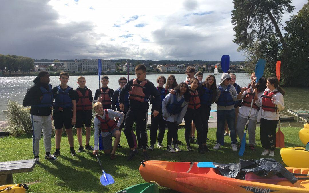 Le kayak avec le lycée